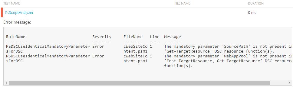 ScriptAnalyzer error